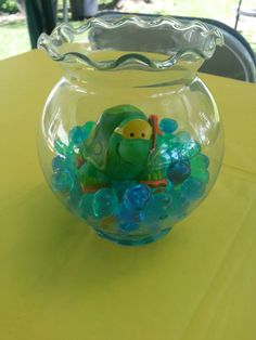 Turtle Baby Shower Center Piece