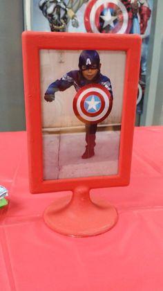 Matthew's Avengers Birthday Party! Centerpieces