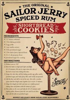 Sailor Jerry Spiced Rum Shortbread Cookies