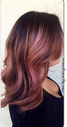 bobs with rose highlights - Google Search