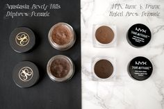 Alice's Beauty Madness: NYX Tame&Frame is a dupe for Anastasia Bevely Hills DipBrow Pomade? Comparison and swatches
