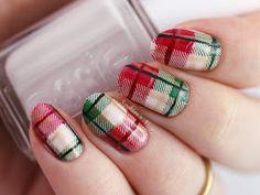 Christmas Plaid Nails feat. Essie - Urban Jungle