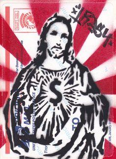 street art stencil graffiti sticker tag by Trash