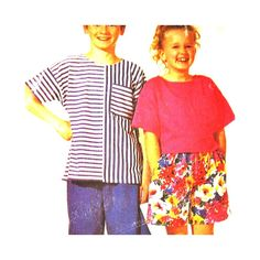 McCalls Pattern 6494 Child's Top and Shorts Boy or Girls Size 10 12 14 Uncut
