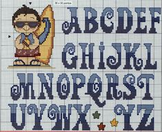 Ponto Cruz da Vanessa. ☀CQ #crochet #graphghans #charts #graphs