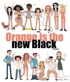 Orange is the New Black 2014 on Etsy, $6.50