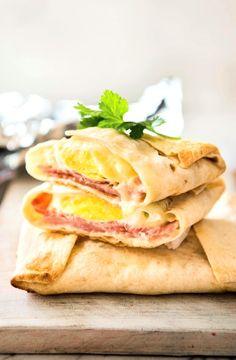 Low FODMAP Recipe and Gluten Free Recipe - Bacon & fried egg wraps