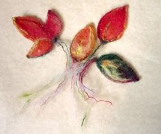 needle felted enchanted forest autumn leaves