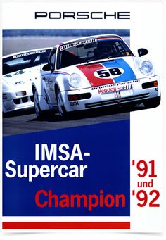 Poster Carros Porsche IMSA Supercar Champion - Decor10