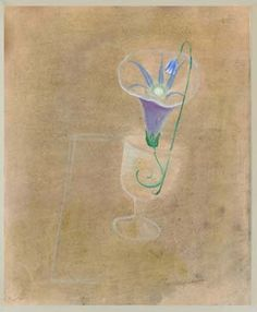 "Artist: Graves, Morris Cole (American ""Goblet and Morning Glory""Date: not dated likely date circa on Dec 2012 Concept Art Gallery, Light Of Life, First Art, Modern Artists, Famous Artists, Soft Colors, American Artists, Cool Artwork, Asian Art"