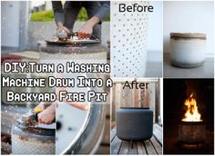 Diy Projects: Turn a Washing Machine Drum Into a Backyard Fire Pit