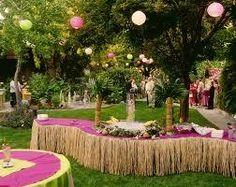 Backyard Hawaiian Party