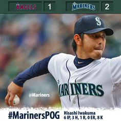 Hisashi lowers his season ERA to 1.67 in 2-1 #Mariners win over Angels. 4/28/13