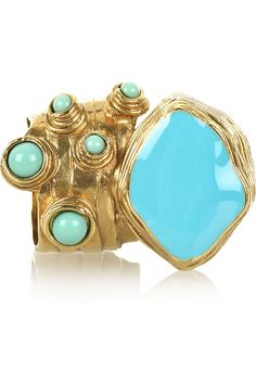 turquoise + gold