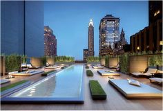 Terrace pool design in Pine Residences NY