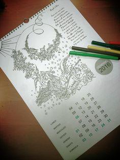 Calendario degli angeli da colorare di Roomofwonders su Etsy