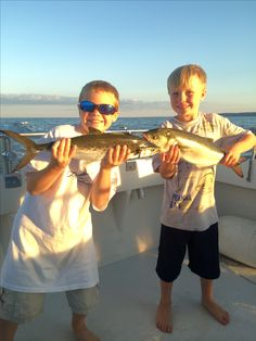 Spanish Mackerel and Bluefish - the kids loved cranking on these! #rocknrobincharters