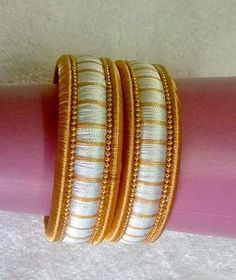 To order, plz what's app on 9704084116 Silk Thread Bangles Design, Silk Bangles, Silk Thread Earrings, Thread Jewellery, Beaded Necklace Patterns, Jewelry Patterns, Handmade Pearl Jewelry, Beaded Jewelry, Bangles Making