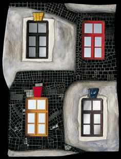 Hundertwasser 913C Eyes of the City--Window Right 3-dimensional object (mosaic) 1992 Executed according to Hundertwasser's design by Alfred Schmid, Klosterneuburg, and Andreas Bodi, Maria Enzersdorf, in an edition of 500 specimen.