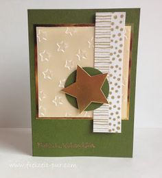 Stampin'Up! Big Shot - Framelits Stern-Kollektion, Big Shot - Prägeform Glücksstern, Washi Tape, Weihnachten, Embossing Gold