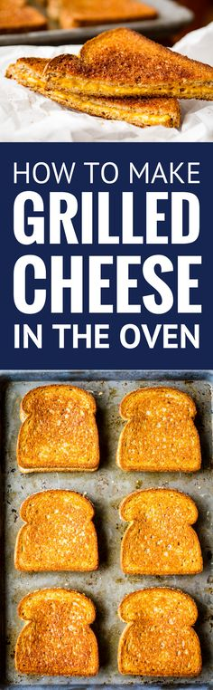 Grilled Cheese in the Oven -- this simple method makes 6 hot and fresh classic grilled cheese sandwiches per half sheet pan in just about 10 minutes! | grilled cheese in oven | baked grilled cheese | sheet pan grilled cheese | grilled cheese recipes | find the recipe on unsophisticook.com #grilledcheese #sheetpanrecipe #easyrecipes