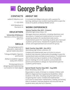 Teacher Resume Examples 2018 Magnificent Image Result For 2017 Popular Resume Formats Administration  2018 .