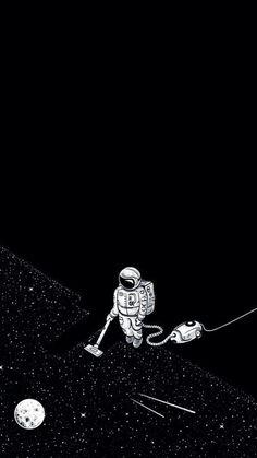 Imagem de stars, space, and moon