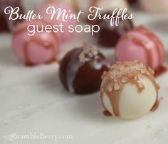 These DIY White Rose Mint Truffle Guest Soaps make lovely DIY Valentine's Day gifts.