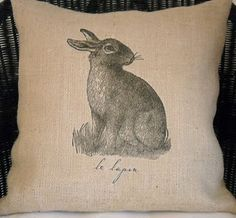 rabbit pillow. Great for a living room!