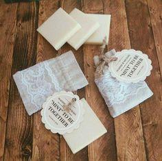 Eco-Musings Handmade Mint Soap Wedding Favors.