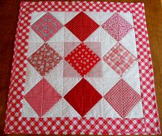 Valentine Quilted Table Runner Topper by ForgetMeNotQuilteds