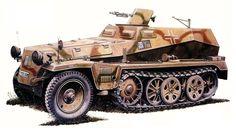 Sd.kfz. 250-1 Schutzenpanzer corazzato derivato dello chassis del Demag Sd.Kfz. 10
