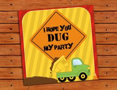 Dump Truck Construction Themed Favor Or Thank You Tag Set Of 12 - Instant…