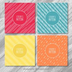 Stripes patterns Free Vector