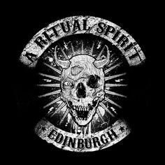 A RITUAL SPIRIT. T-shirt design.