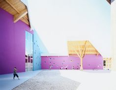 Built by Alfonso Femia Gianluca Peluffo in Zugliano, Italy with date Images by Ernesta Caviola. Designing, building a school is a public event. Therefore, we conceived a building that is both representative and fu. Colour Architecture, Education Architecture, Commercial Architecture, School Architecture, Contemporary Architecture, Environmental Engineering, Environmental Design, Co Housing, School Fun