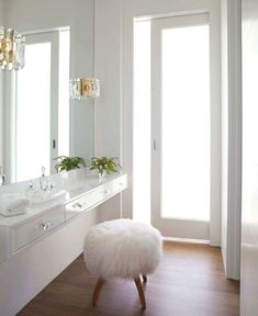Sally Markam featured in House Beautiful June 2011 - white dressing room