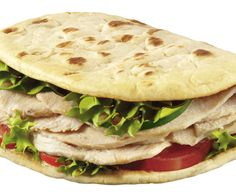 Think deli meat is boring? You haven't tried Boar's Head Chipotle Chicken Breast (60 cal, 1 g fat for 2 oz). Pile some onto a Flatout Hungry Girl 100% Whole Wheat with Flax Foldit (90 cal, 2.5 g fat) or a 100-calorie flat sandwich bun, along with lots of lettuce, tomato, and mustard.