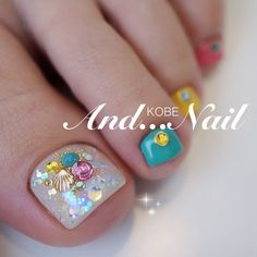 Mermaid toes Wow Nails, Pretty Toe Nails, Cute Toe Nails, Fancy Nails, Toe Nail Art, Gorgeous Nails, Beautiful Toes, Pedicure Designs, Manicure E Pedicure