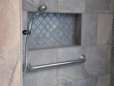 Adding a niche to your shower is a convenient way to store your soap and showering items.