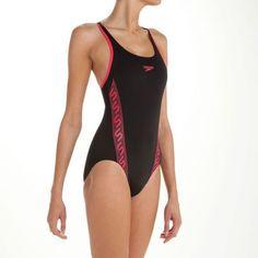 Maillot de bain une pièce pour natation noir et rose© Speedo