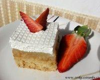 Dorty, řezy, dobroty - Recepty - Řezy, buchty na plech Desert Recipes, Cheesecake, Food, Cheesecakes, Essen, Dessert Recipes, Meals, Yemek, Cherry Cheesecake Shooters