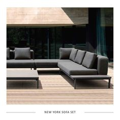 Introducing - The New York sofa set. Perfect for a contemporary outdoor living space, modern balcony, or penthouse terrace. This set is in stock and ready to go!