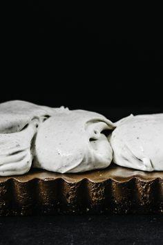 Coffee Chocolate Tart with Cardamom Mascarpone | TENDING the TABLE