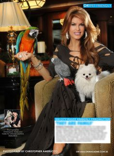 Out today in my OK! Pets feature in OK! magazine. Kimberly Friedmutter star of 'Sin City Rules' and her beautiful animals. Pick up a copy today.
