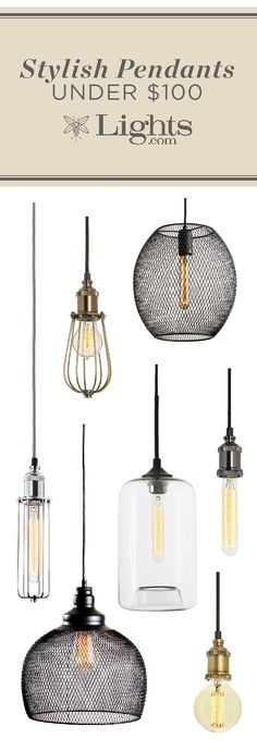 Industrial style pendants for your home--all under $100!