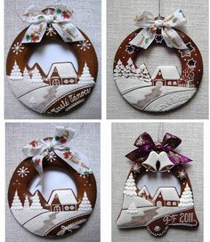 Christmas ornament scenes