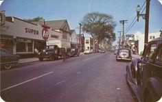SAYVILLE LONG ISLAND NY Main St. grocery store liquor - 1950s.