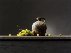 Kruikje met groene druiven