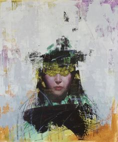 """San Francisco based artist John Wentz plays with texture and abstraction in what he calls his """"fractured"""" oil paintings of figures. Previously featured on our blog, the figures in Went&…"""